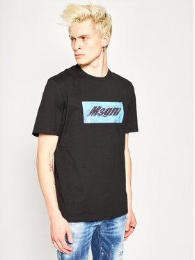 MSGM MSGM Marškinėliai 2840MM230 207098 Juoda Regular Fit