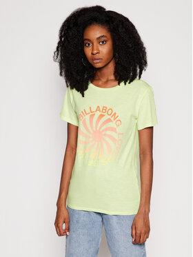 Billabong Billabong T-Shirt Surfadelic Boy W3SS38 BIP1 Zielony Regular Fit