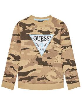 Guess Guess Bluza L1RQ00 KA6R0 Brązowy Reguar Fit