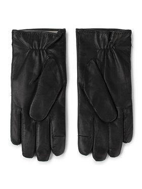 TOMMY HILFIGER TOMMY HILFIGER Pánské rukavice Flag Leather Gloves Gp AM0AM05184 Černá