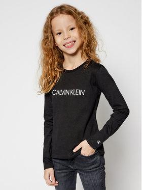 Calvin Klein Jeans Calvin Klein Jeans Bluse Institutional Logo IG0IG00627 Schwarz Regular Fit