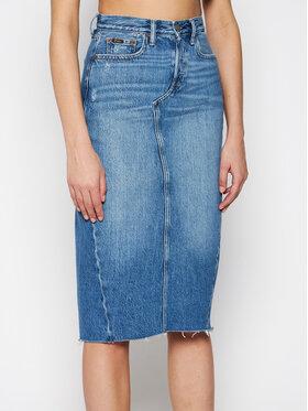 Polo Ralph Lauren Polo Ralph Lauren Džínsová sukňa Skt 211825856001 Modrá Regular Fit