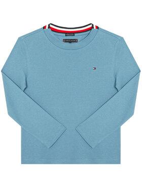 TOMMY HILFIGER TOMMY HILFIGER Bluză Solid Rib Tee KB0KB06212 D Albastru Regular Fit