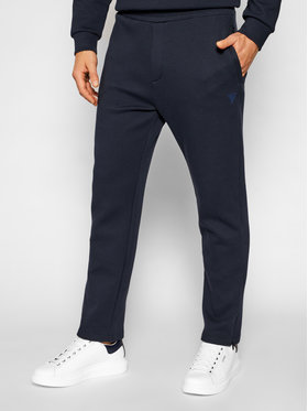 Guess Guess Sportinės kelnės U1YA09 FL03P Tamsiai mėlyna Regular Fit