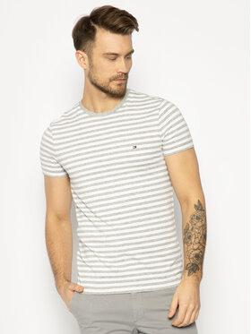 Tommy Hilfiger Tommy Hilfiger T-Shirt Stretch Tee MW0MW10800 Szary Slim Fit