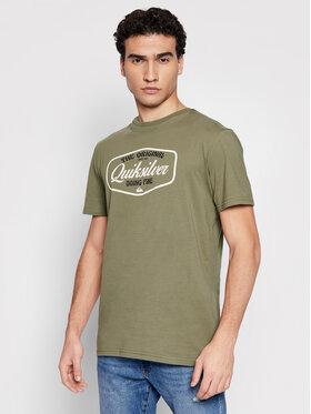 Quiksilver Quiksilver T-Shirt Cut To Now Ss EQYZT06377 Zielony Regular Fit