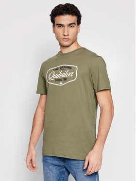 Quiksilver Quiksilver Тишърт Cut To Now Ss EQYZT06377 Зелен Regular Fit