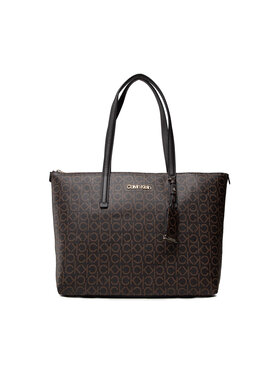 Calvin Klein Calvin Klein Дамска чанта Ck Must Shopper Md Mono K60K608623 Кафяв