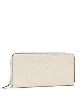 Calvin Klein Jeans Calvin Klein Jeans Великий жіночий гаманець Zip Around K60K608249 Бежевий