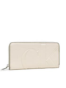 Calvin Klein Jeans Calvin Klein Jeans Veľká dámska peňaženka Zip Around K60K608249 Béžová
