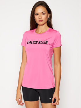 Calvin Klein Performance Calvin Klein Performance Тениска от техническо трико Short Sleeve 00GWF0K168 Розов Slim Fit