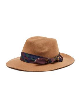 Lauren Ralph Lauren Lauren Ralph Lauren Kapelusz Wool Fedora Tie Band 454855078001 Brązowy