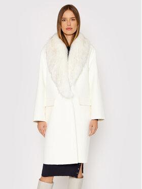 Liu Jo Liu Jo Gyapjú kabát CF1013 T8524 Fehér Regular Fit