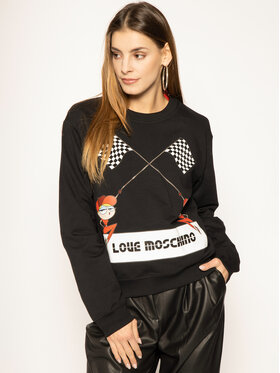 LOVE MOSCHINO LOVE MOSCHINO Bluza W630630E 2124 Czarny Regular Fit