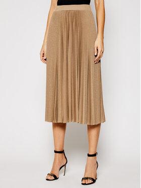 Marella Marella Plesirana suknja Lepanto 37710311 Smeđa Regular Fit