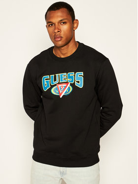 Guess Guess Bluză J BALVIN Logo M0FI0M RA1C0 Negru Regular Fit
