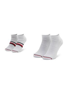 Tommy Hilfiger Tommy Hilfiger Sada 2 párů pánských nízkých ponožek 100002659 Bílá