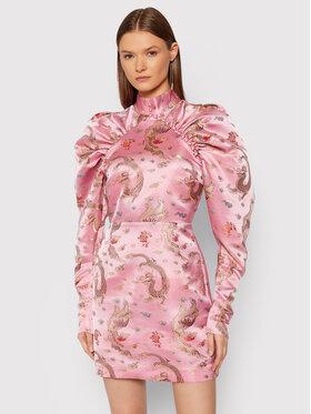 ROTATE ROTATE Koktejlové šaty Kim RT652 Ružová Regular Fit