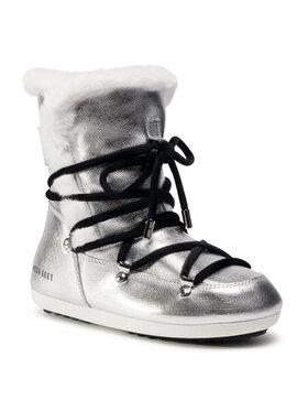 Moon Boot Moon Boot Μπότες Χιονιού Dk Side High Shearling 24300100001 Ασημί