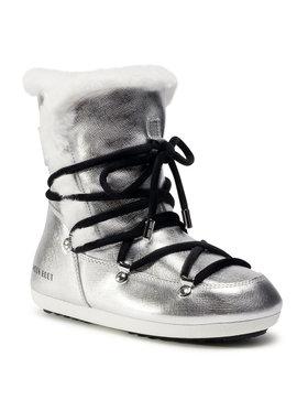 Moon Boot Moon Boot Sniego batai Dk Side High Shearling 24300100001 Sidabrinė