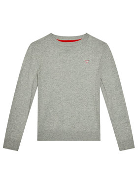 Guess Guess Pulover L0YR03 Z2VV0 Gri Regular Fit