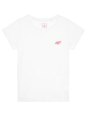 4F 4F T-Shirt HJL21-JTSD008 Biały Regular Fit