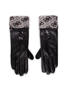 Guess Guess Rękawiczki Damskie Valy Gloves AW8545 POL02 Czarny