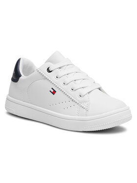 Tommy Hilfiger Tommy Hilfiger Sneakersy Low Cut Lace-Up Sneaker T3B4-31086-0193 M Biały