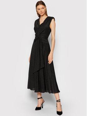 Rinascimento Rinascimento Robe de soirée CFC0105077003 Noir Slim Fit