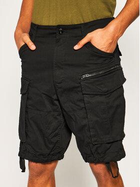 G-Star Raw G-Star Raw Szorty materiałowe Rovic Zip D08566-5126-990 Czarny Relaxed Fit