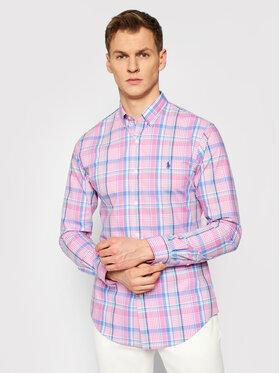 Polo Ralph Lauren Polo Ralph Lauren Риза Poplin 710833981006 Цветен Slim Fit
