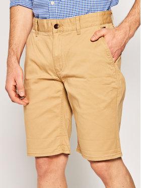 Tommy Jeans Tommy Jeans Šortky z materiálu Tjm Essential Chino DM0DM05444 Hnědá Regular Fit