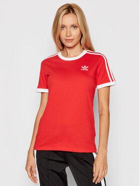 adidas adidas T-Shirt Adicolor Classics 3-Stripes H33575 Czerwony Regular Fit
