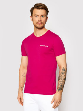 Calvin Klein Jeans Calvin Klein Jeans Tričko J30J315245 Ružová Regular Fit