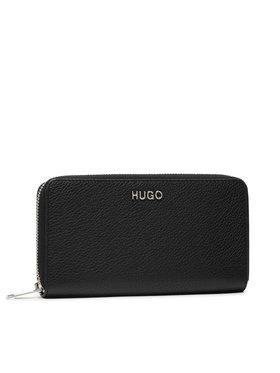 Hugo Hugo Portefeuille femme grand format Victoria Ziparound 50447480 Noir