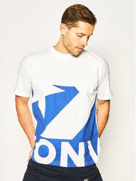 Converse Converse T-shirt Star Chevron Icon Remix 10018381-A04 Blanc Oversize