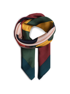 Tory Burch Tory Burch Μαντήλι Color Block Logo Silk Neckerchief 56903 Πράσινο