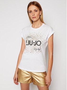 Liu Jo Liu Jo T-Shirt WA1327 J0094 Biały Regular Fit