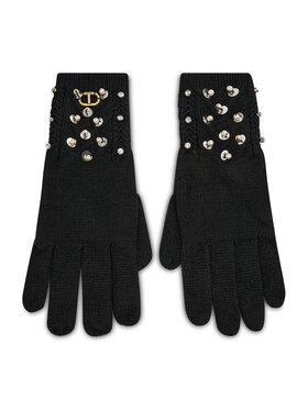 TWINSET TWINSET Dámske rukavice Guanti 212TO5052 Čierna