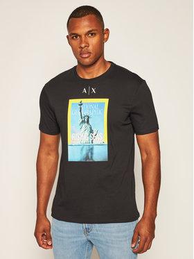 Armani Exchange Armani Exchange T-Shirt 6HZTEE ZJ3DZ 1200 Schwarz Regular Fit
