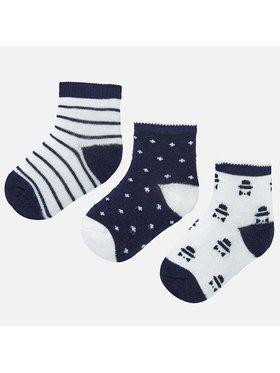 Mayoral Mayoral Sada 3 párů dětských vysokých ponožek 9243 Tmavomodrá
