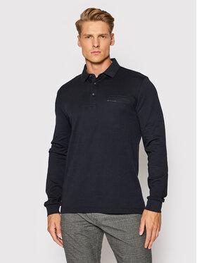 Pierre Cardin Pierre Cardin Тениска с яка и копчета 53604/000/12315 Тъмносин Regular Fit