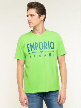 Emporio Armani Emporio Armani T-Shirt 3H1T90 1J0AZ 0563 Zielony Regular Fit