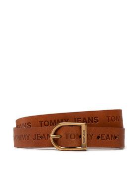 Tommy Jeans Tommy Jeans Pasek Damski Tjw Logo Fashion Belt Hw AW0AW10696 Brązowy