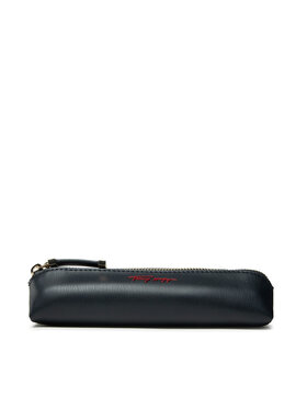 Tommy Hilfiger Tommy Hilfiger Astuccio Iconic Tommy Pencil Case Sign AW0AW10530 Blu scuro