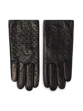Calvin Klein Calvin Klein Damenhandschuhe Monogram Leather Gloves K50K507423 Schwarz