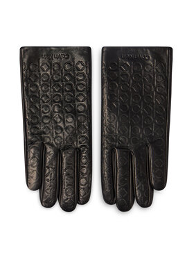 Calvin Klein Calvin Klein Γάντια Γυναικεία Monogram Leather Gloves K50K507423 Μαύρο