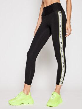 Deha Deha Leggings Side Logo B44015 Fekete Slim Fit