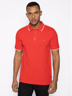 Calvin Klein Calvin Klein Polo Tipping K10K104915 Czerwony Slim Fit
