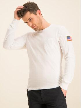 Alpha Industries Alpha Industries Marškinėliai ilgomis rankovėmis Nasa 176532 Balta Regular Fit